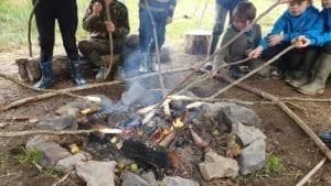 Cooking dough bushcraft skills